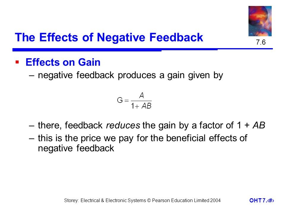 The Effects of Negative Feedback