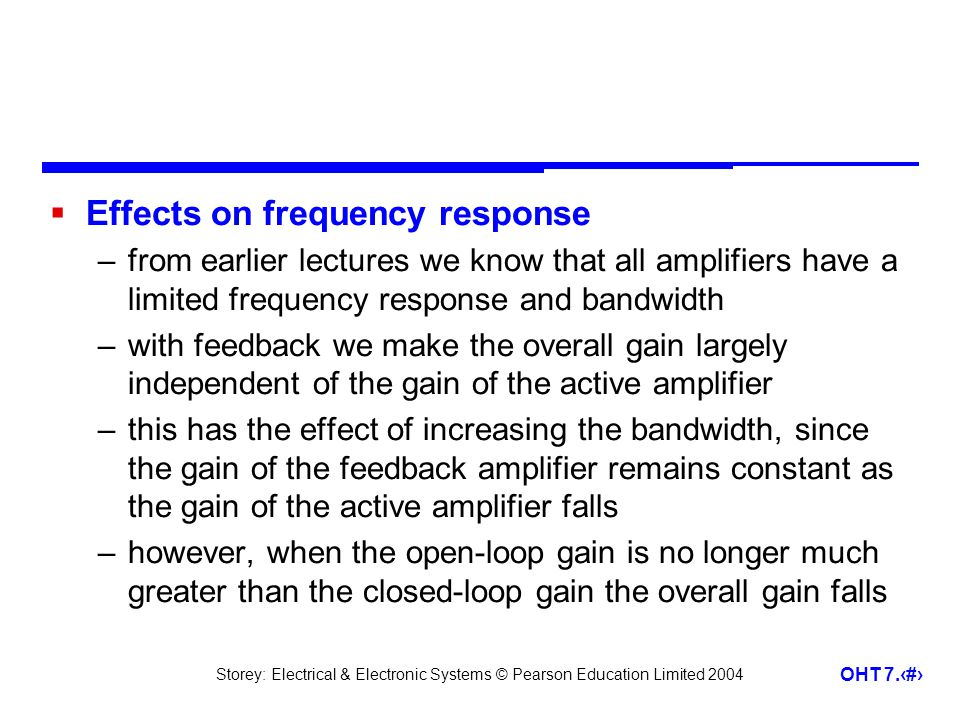 Effects on frequency response