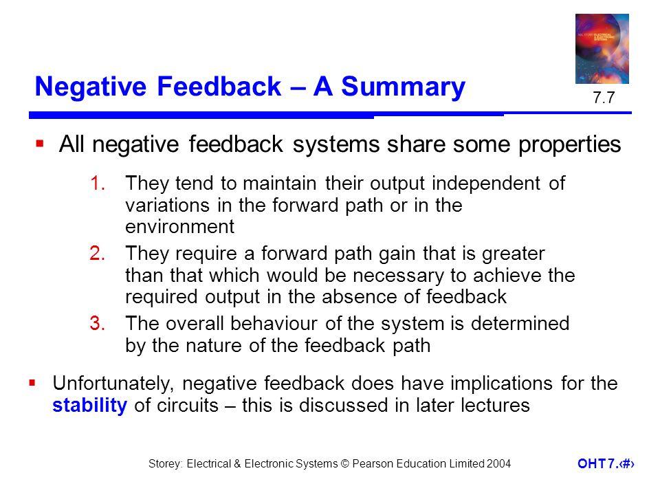 Negative Feedback – A Summary