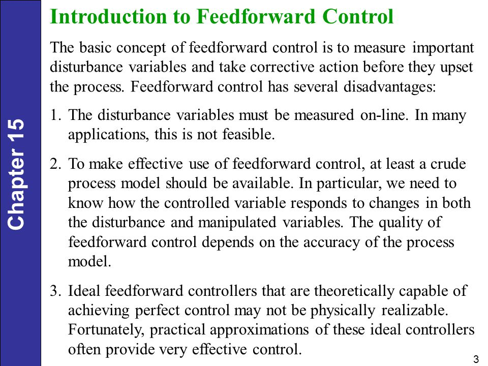 Introduction to Feedforward Control
