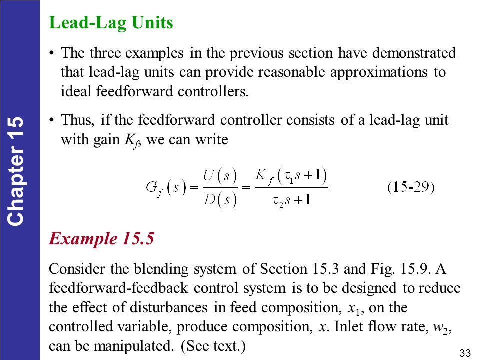 Lead-Lag Units Example 15.5