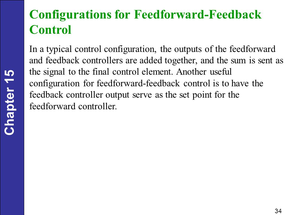 Configurations for Feedforward-Feedback Control