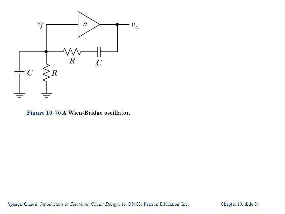 Figure 10-76 A Wien-Bridge oscillator.