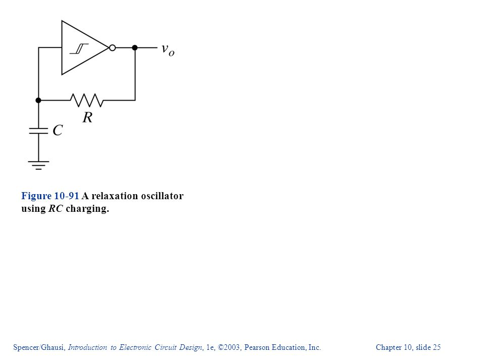 Figure 10-91 A relaxation oscillator using RC charging.