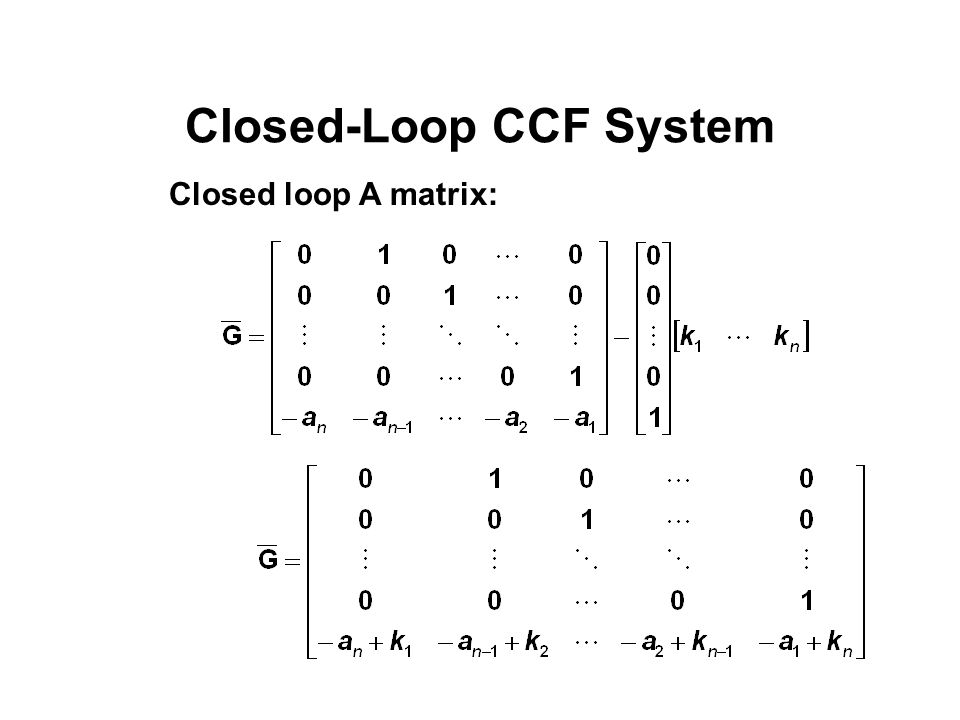 Closed-Loop CCF System