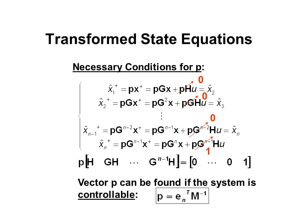 Transformed State Equations
