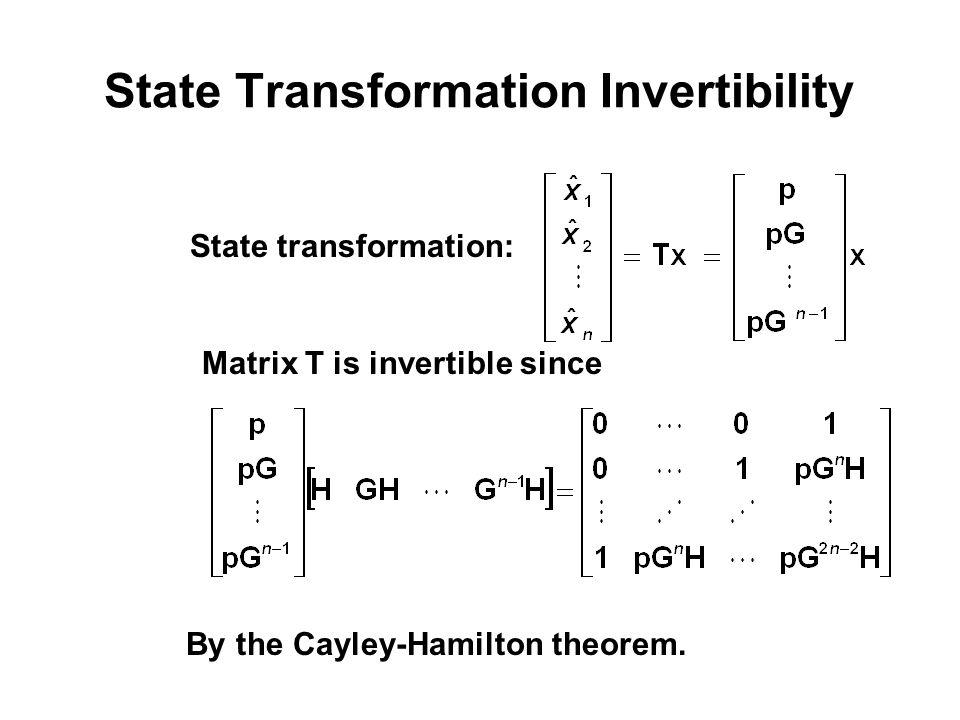 State Transformation Invertibility