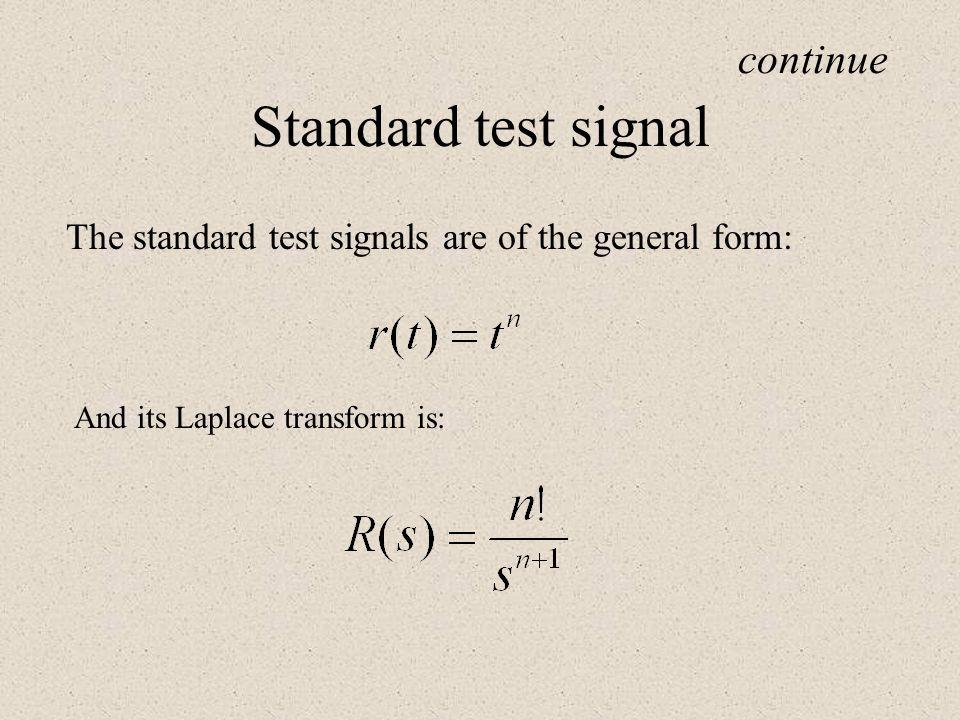 Standard test signal continue