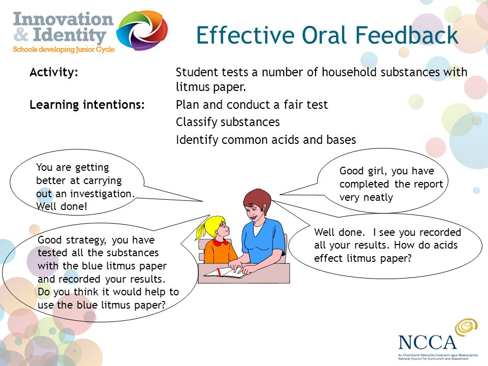 Effective Oral Feedback