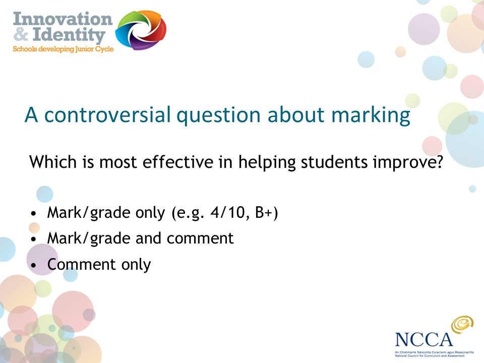 A controversial question about marking