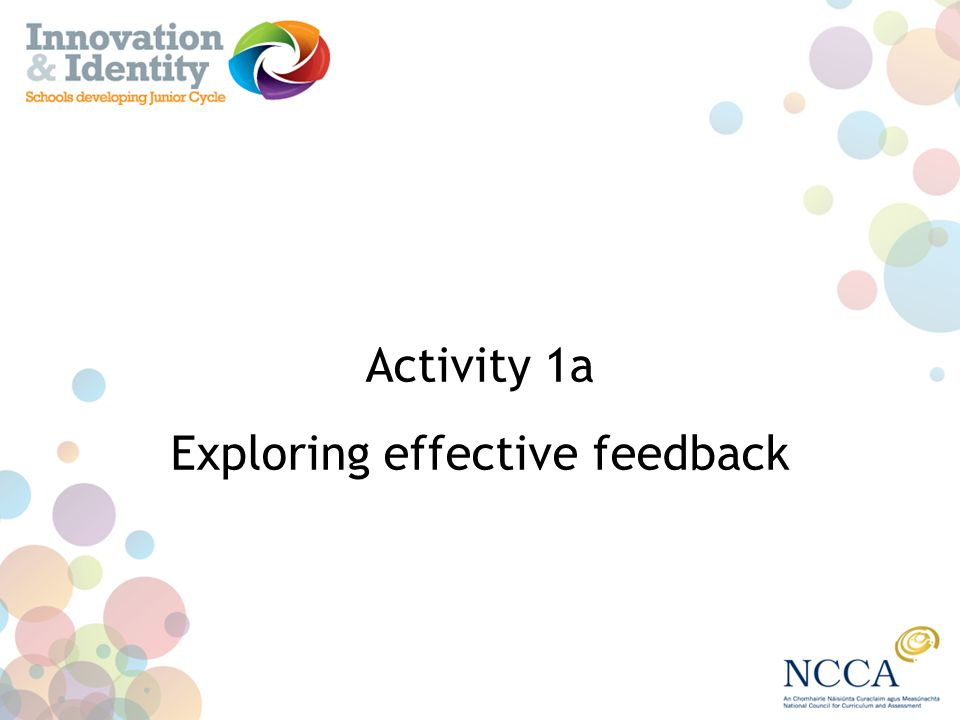 Exploring effective feedback