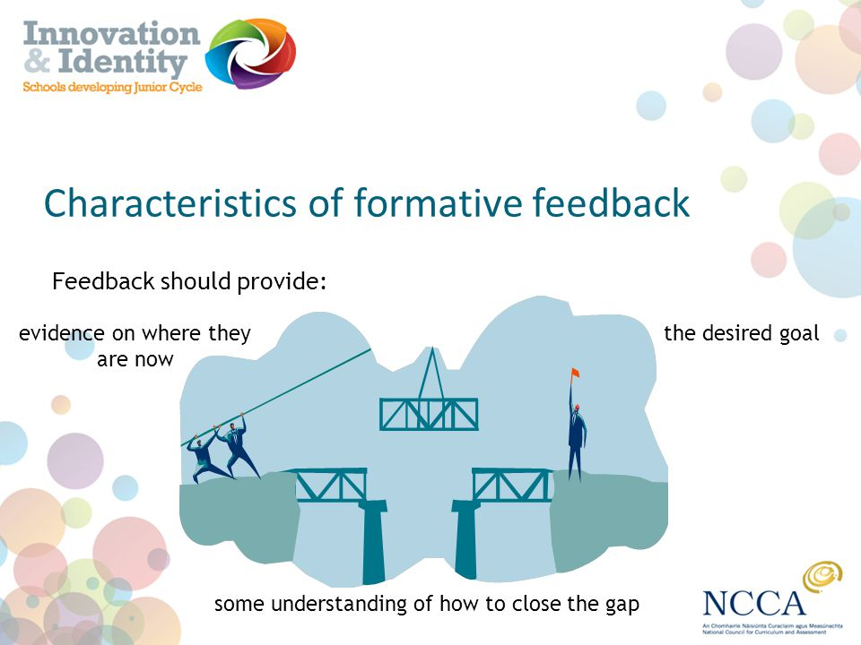 Characteristics of formative feedback