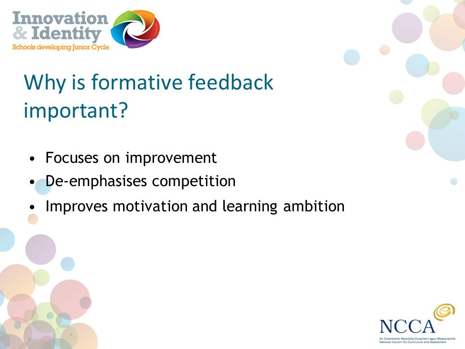 Why is formative feedback important