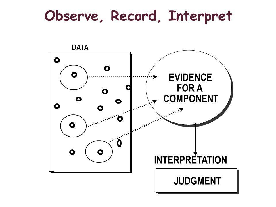 Observe, Record, Interpret