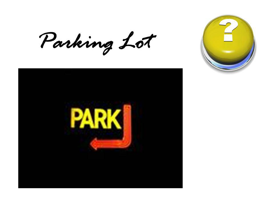 Parking Lot Remind participants that we have a parking lot for their questions