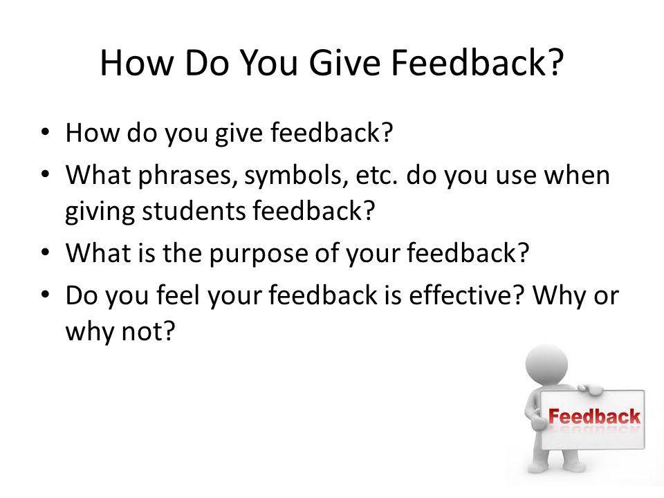How Do You Give Feedback