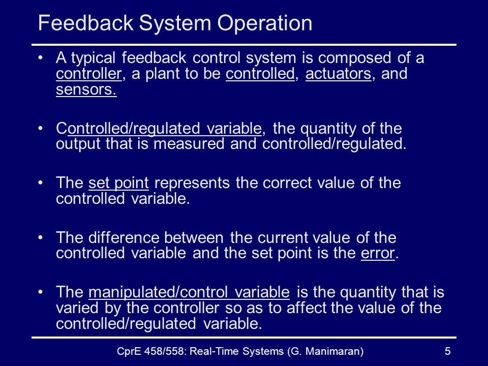Feedback System Operation