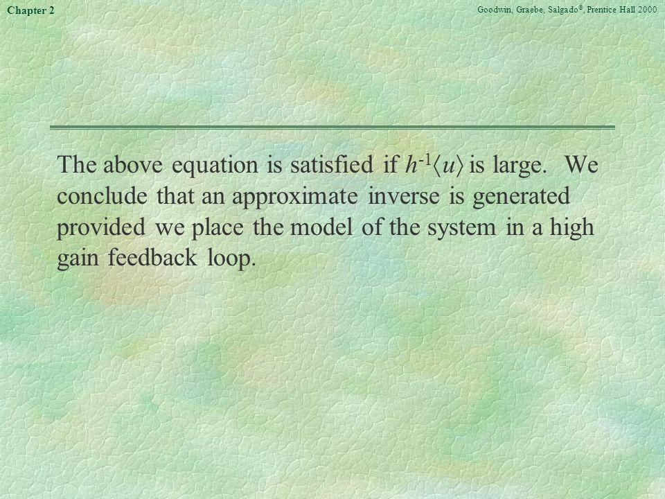 The above equation is satisfied if h-1u is large