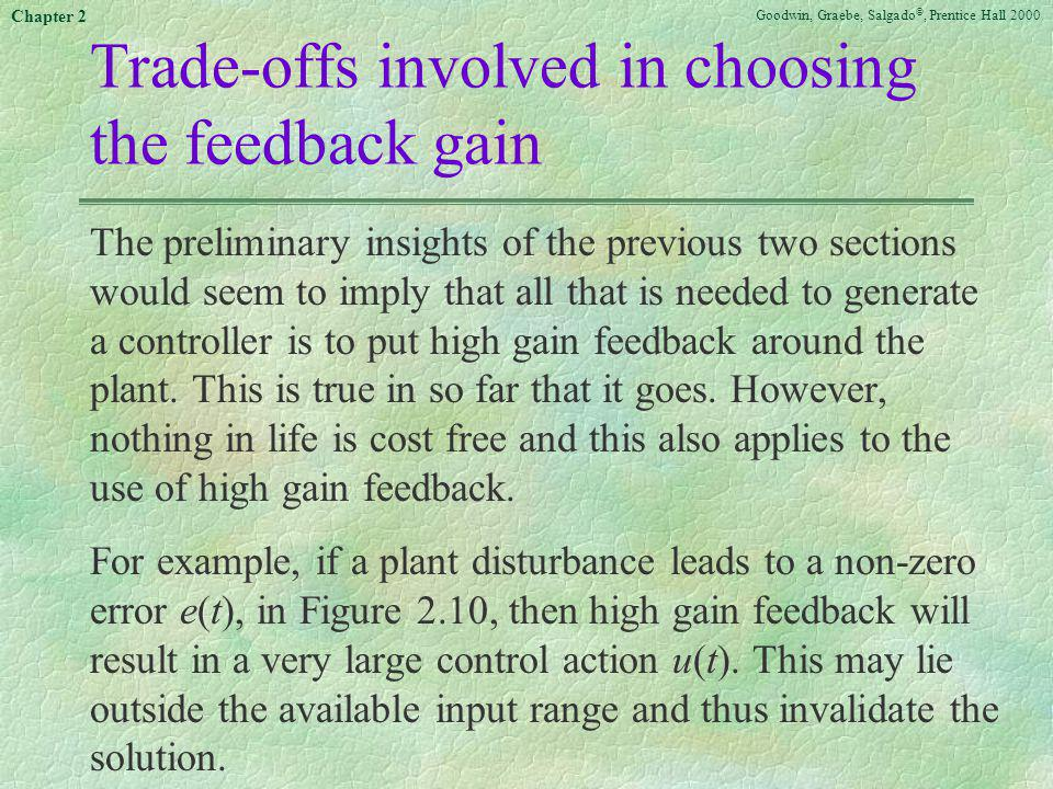 Trade-offs involved in choosing the feedback gain