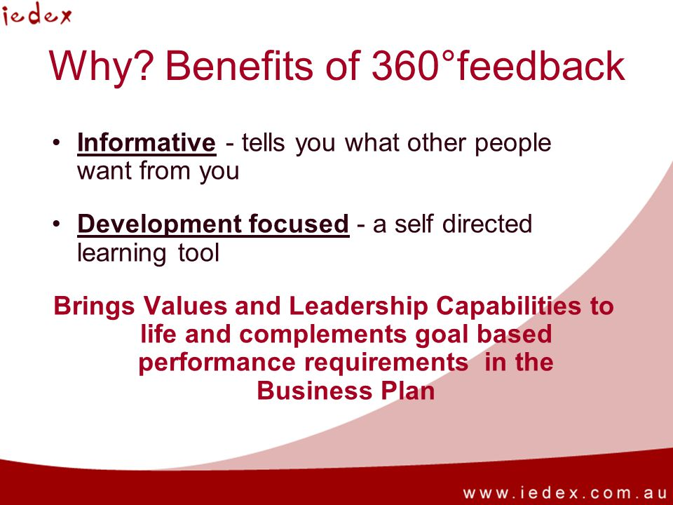 Why Benefits of 360°feedback