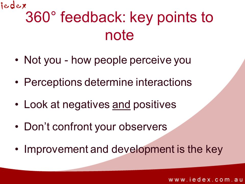 360° feedback: key points to note