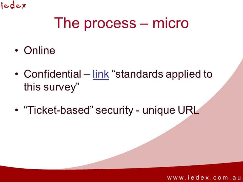 The process – micro Online