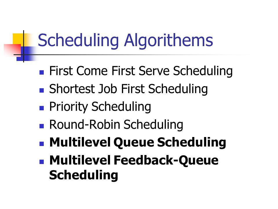 Scheduling Algorithems