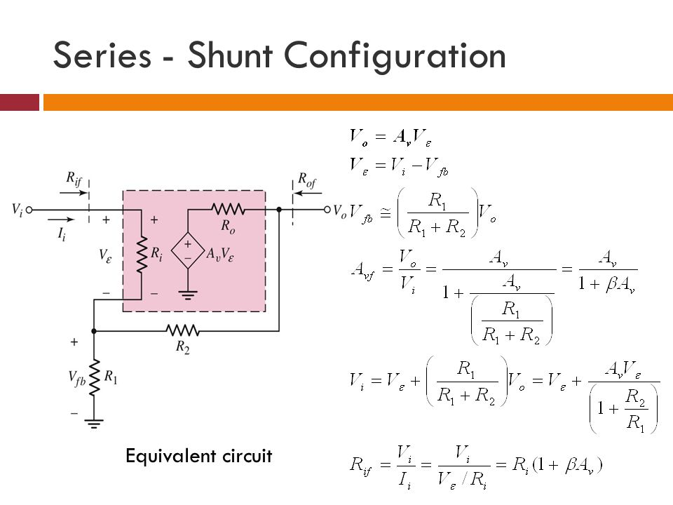 Series - Shunt Configuration