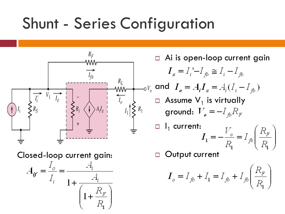 Shunt - Series Configuration
