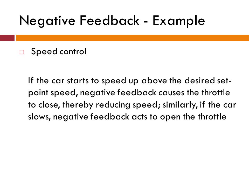 Negative Feedback - Example
