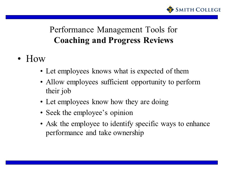 Performance Management Tools for Coaching and Progress Reviews