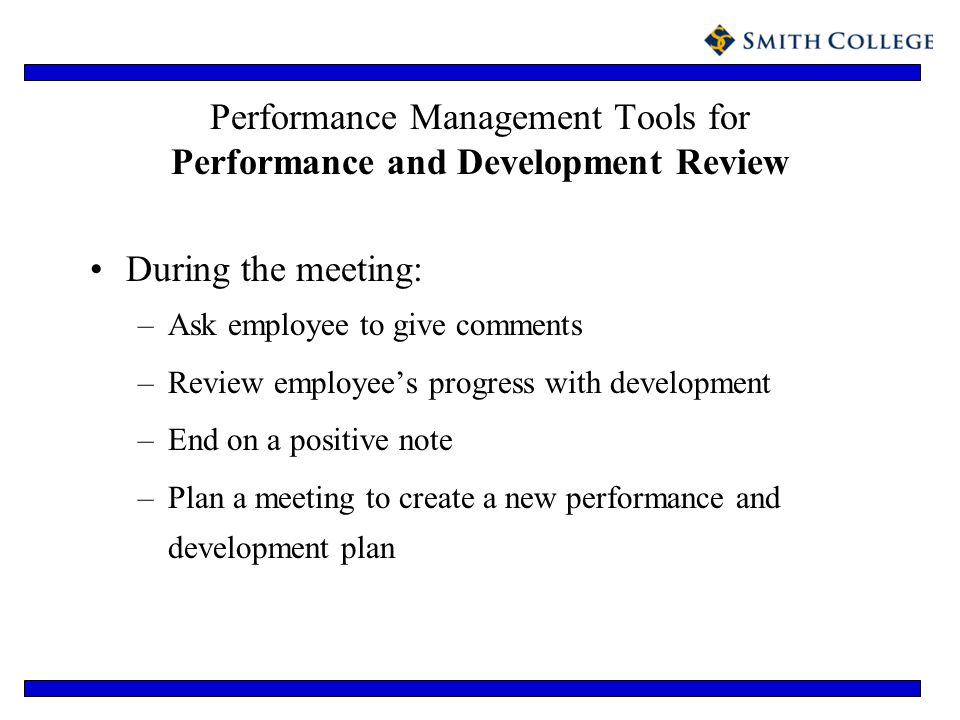 Performance Management Tools for Performance and Development Review