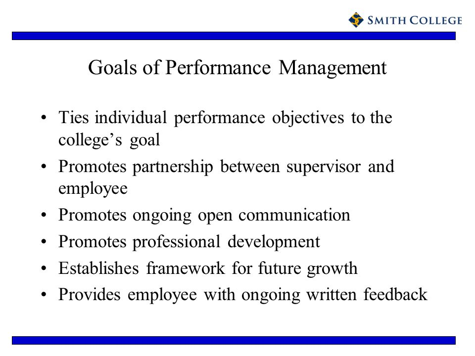 Goals of Performance Management