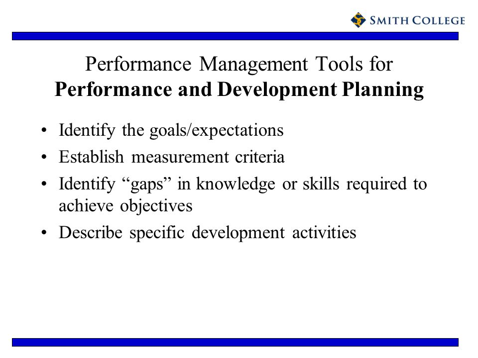 Performance Management Tools for Performance and Development Planning