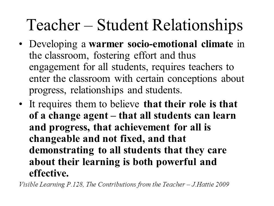 Teacher – Student Relationships