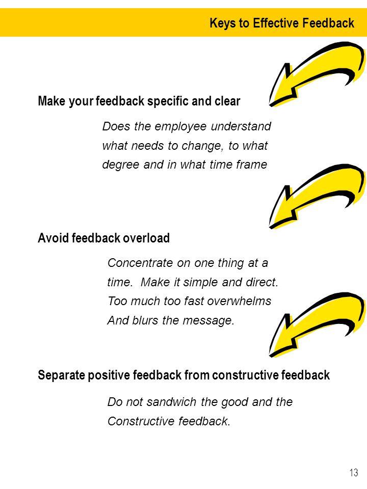 Keys to Effective Feedback