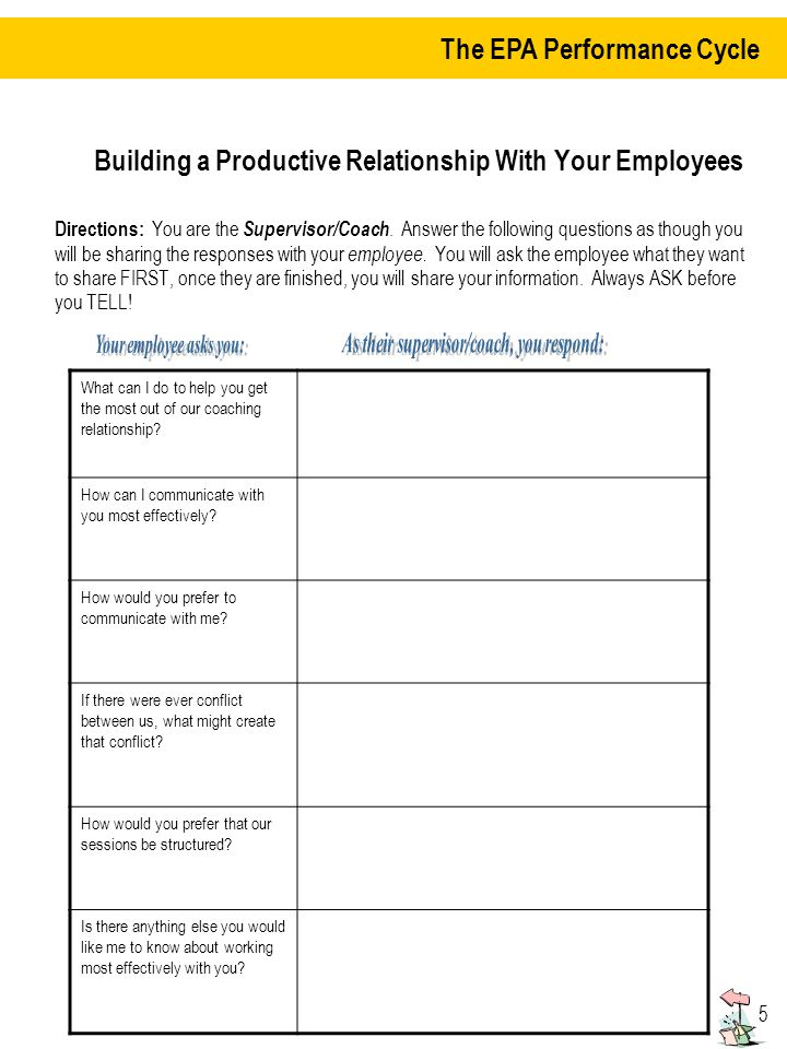Building a better relationship with the employees