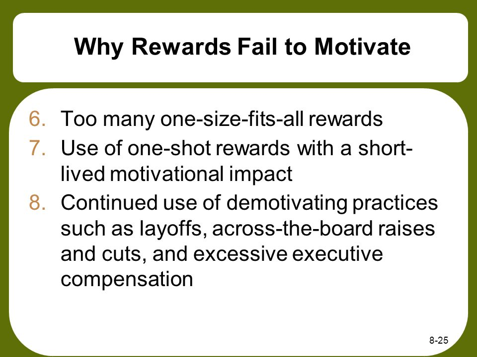 Why Rewards Fail to Motivate
