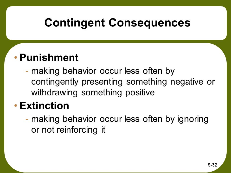 Contingent Consequences