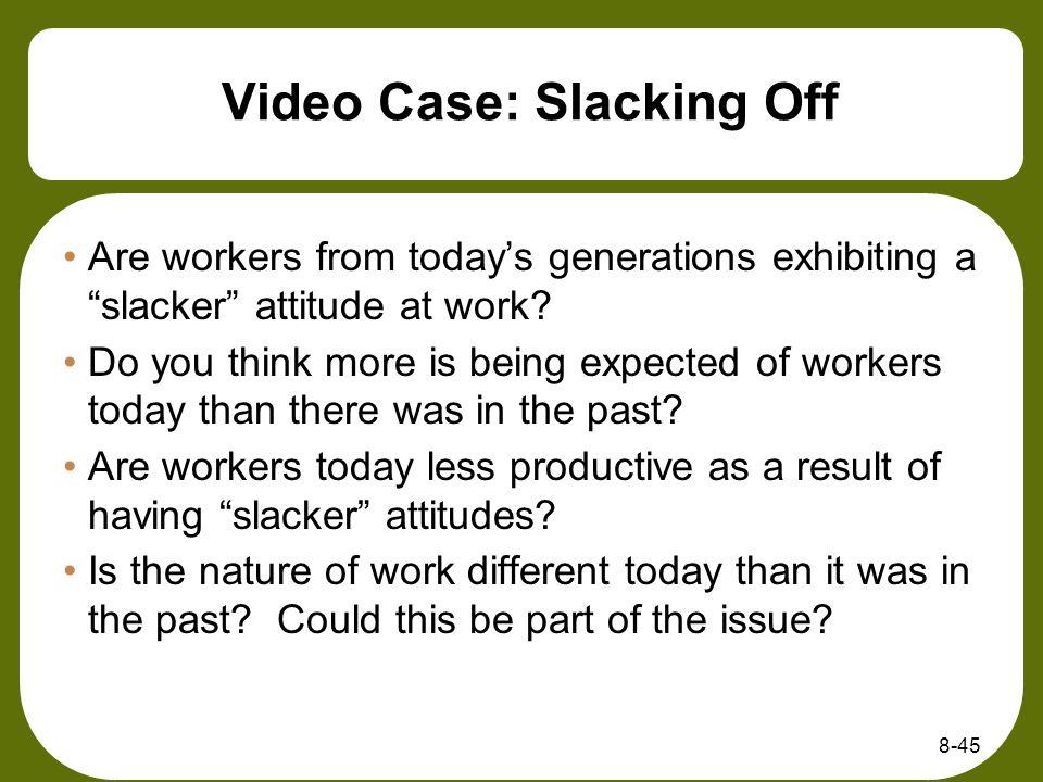 Video Case: Slacking Off