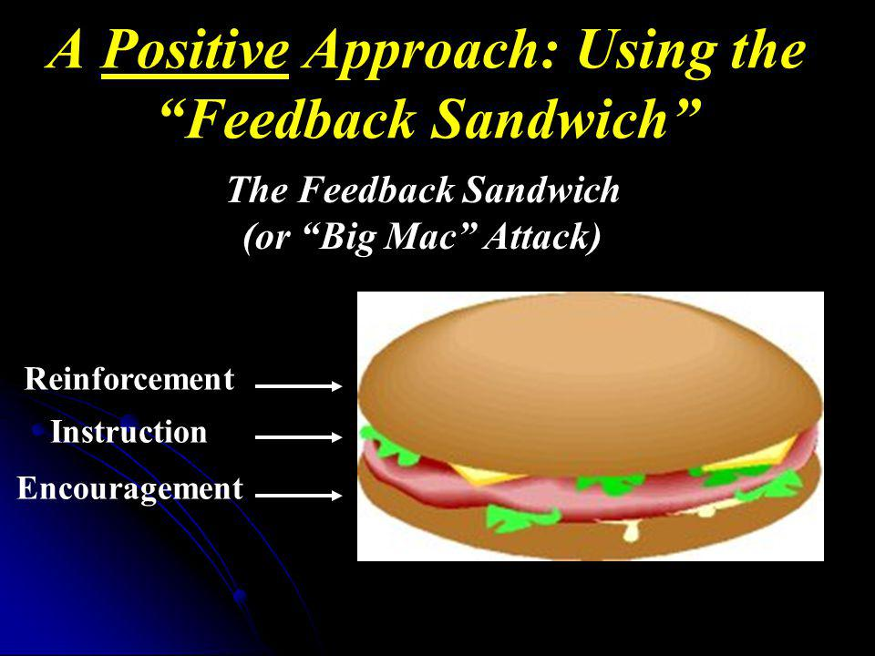 A Positive Approach: Using the Feedback Sandwich