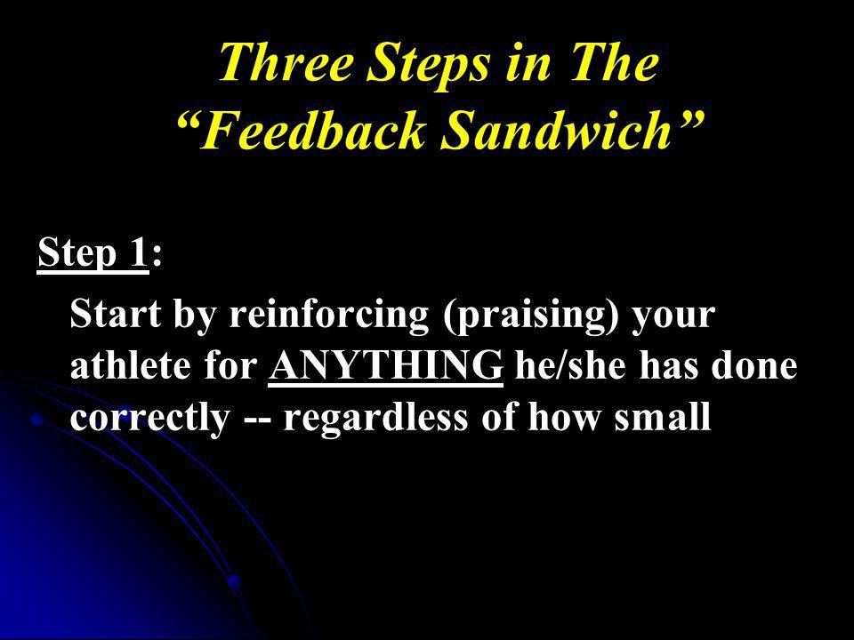 Three Steps in The Feedback Sandwich
