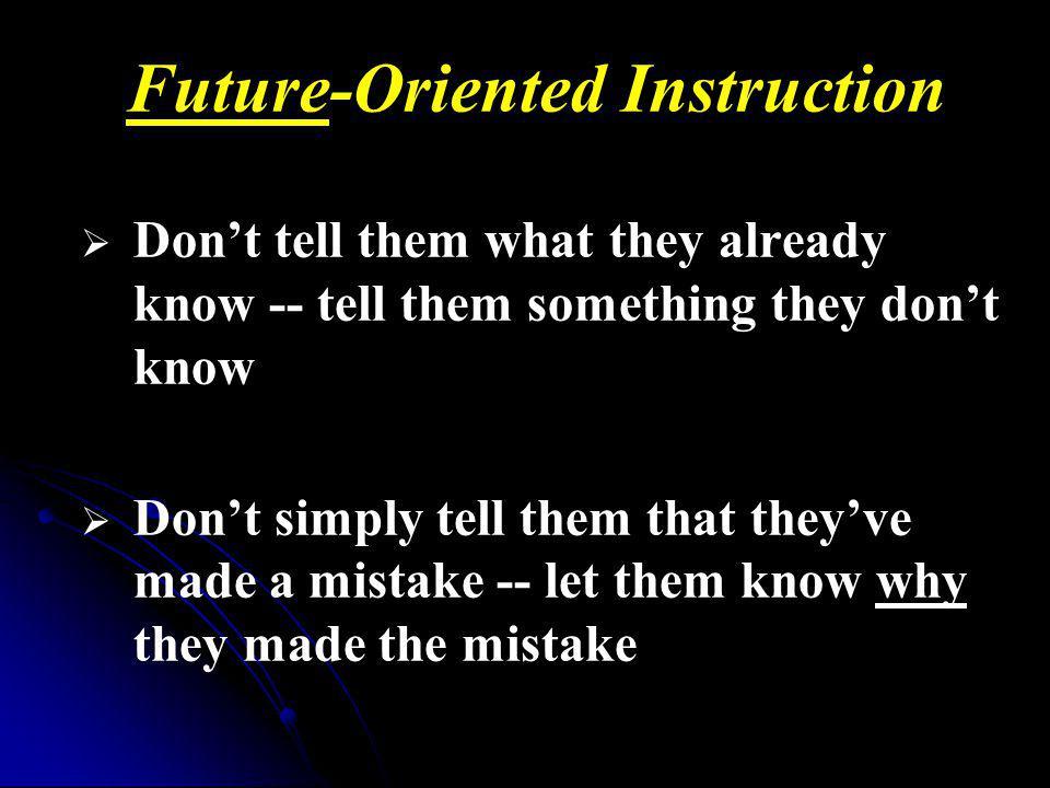 Future-Oriented Instruction