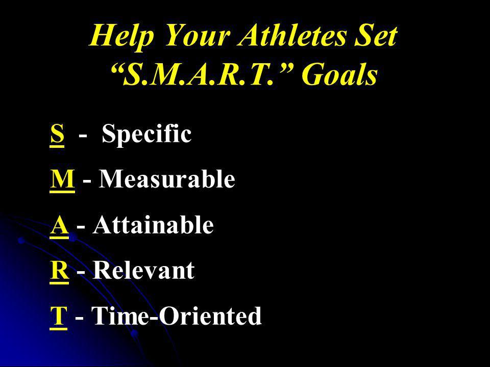 Help Your Athletes Set S.M.A.R.T. Goals