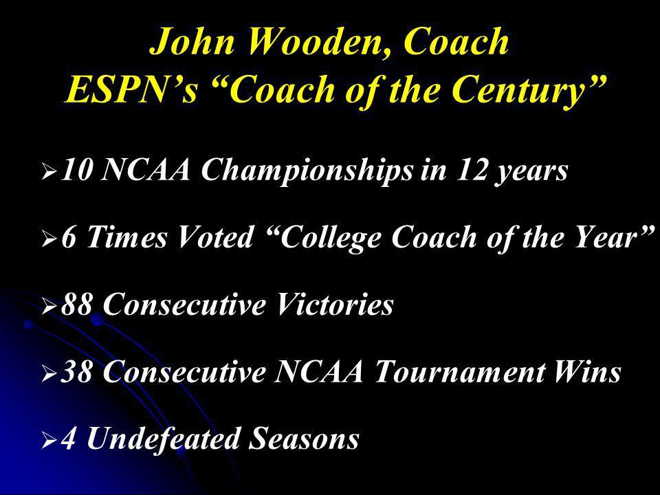 John Wooden, Coach ESPN's Coach of the Century