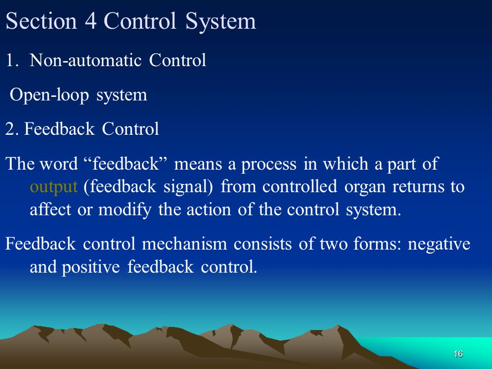 Section 4 Control System