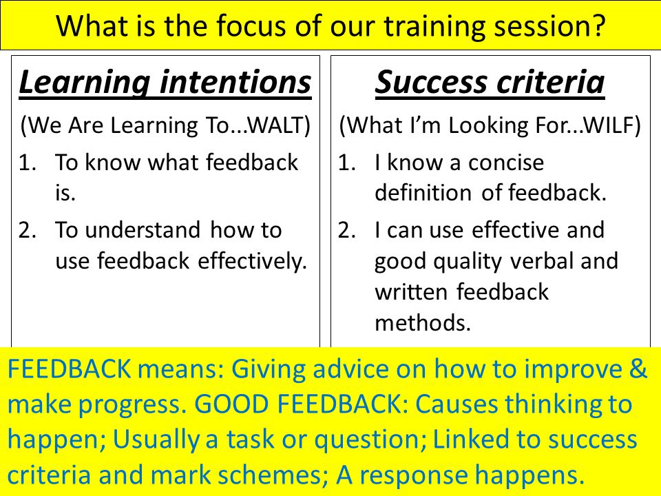 What is the focus of our training session