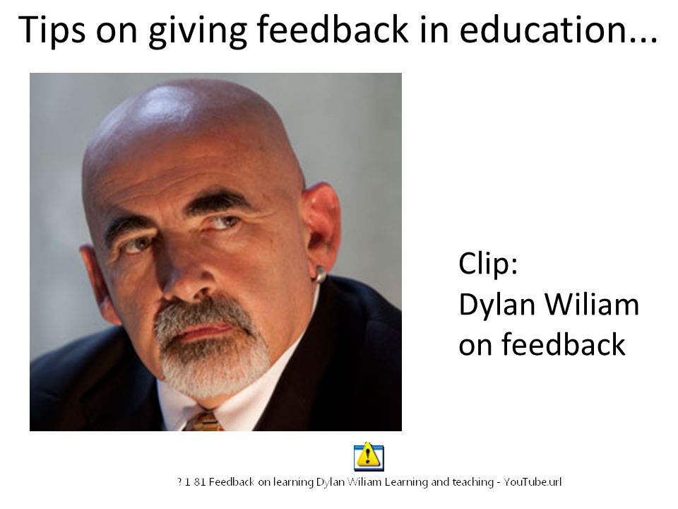 Tips on giving feedback in education...