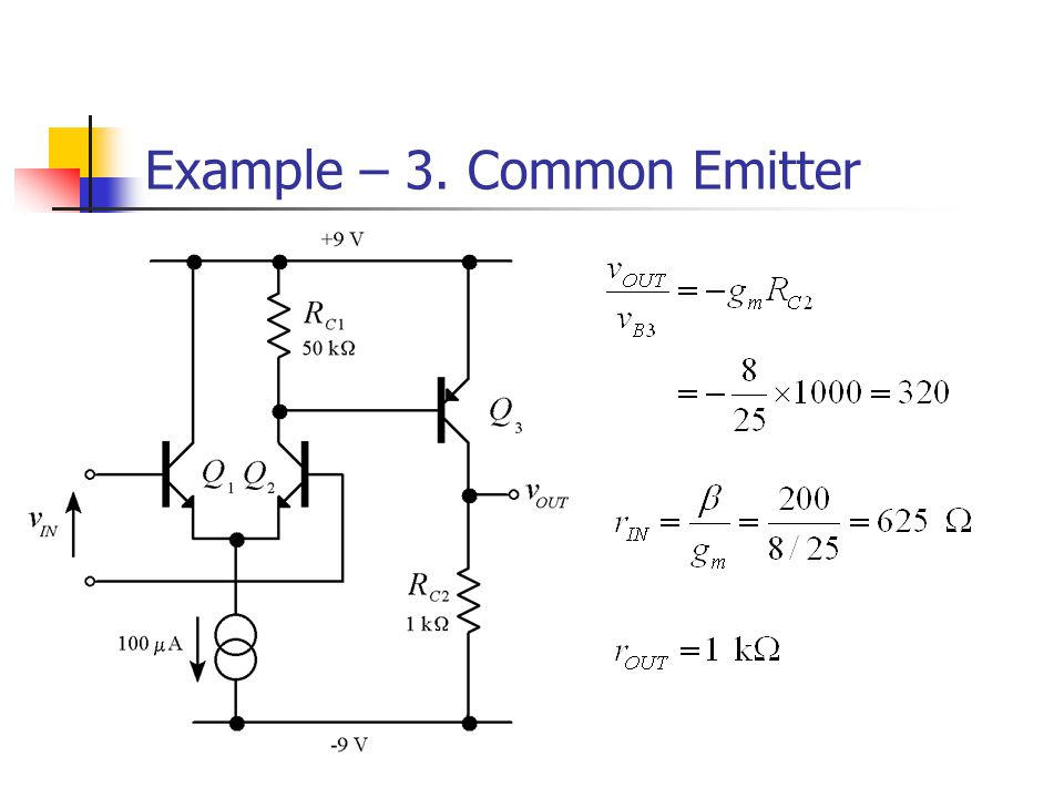 Example – 3. Common Emitter