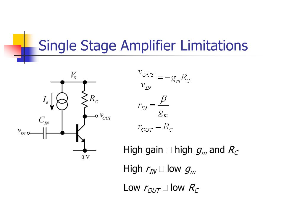 Single Stage Amplifier Limitations